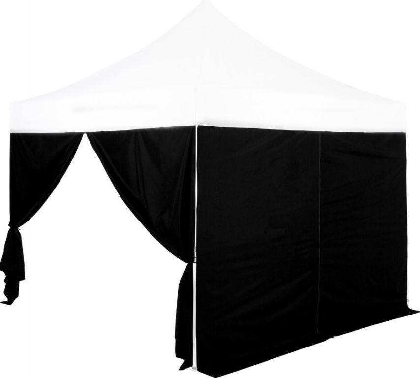 Zestaw 2 ścian bocznych na namioty INSTENT 3 x 3 m - kolor czarny