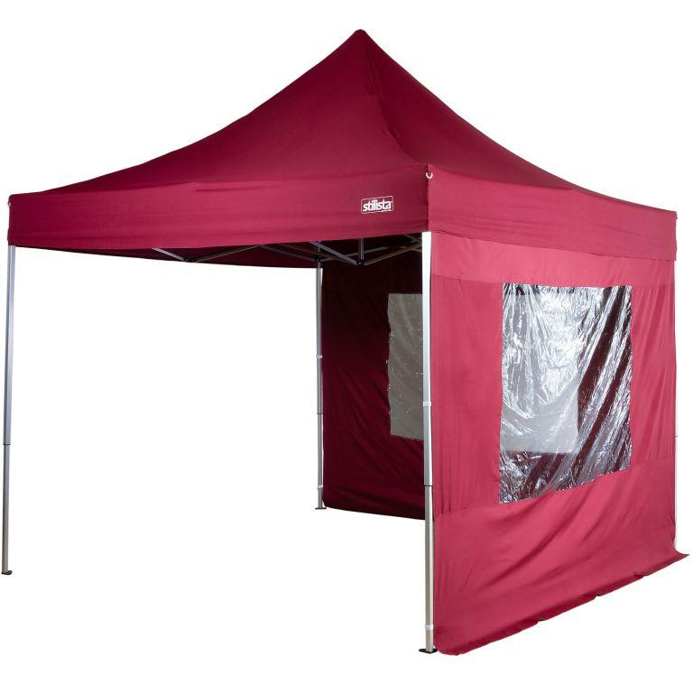 Namiot ogrodowy -nożycowy Stylista 3x3 m + 2 śiany boczne - kolor bordowy