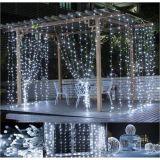 Świąteczna kurtyna świetlna - 3x3 m, 300 LED, zimna biel