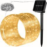 Solarny wąż  - 100 LED ciepły biały VOLTRONIC