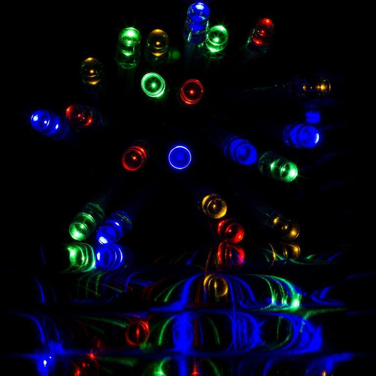 świąteczne Oświetlenie Led 10 M Kolorowe 100 Led Pilot