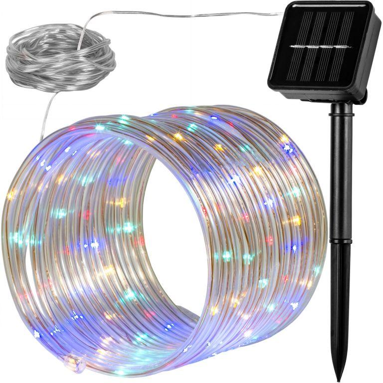 Słoneczne świetlny wąż - 100 LED, kolorowy