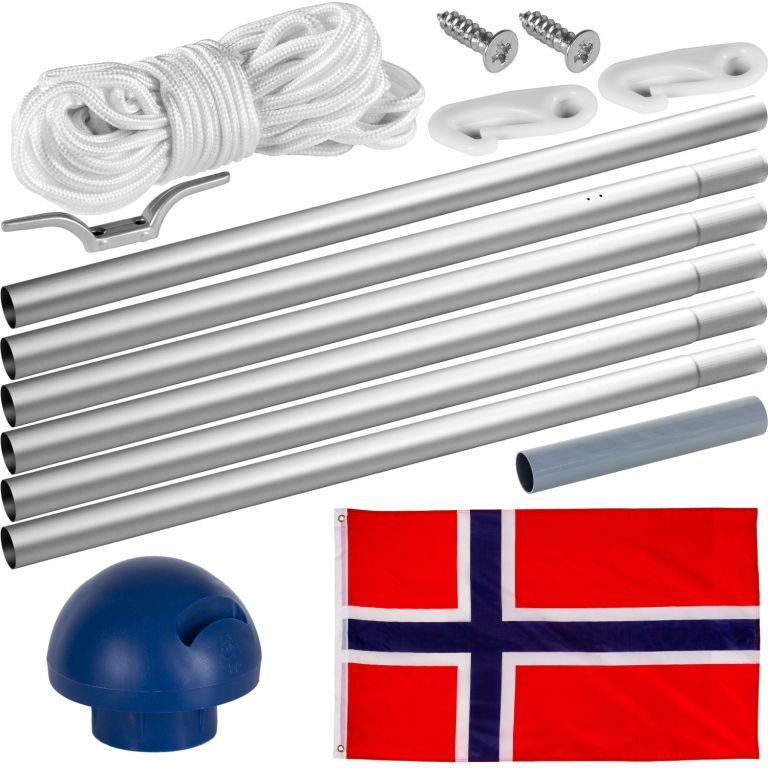 Maszt wraz z flagą: Norwegia - 650 cm