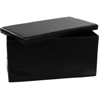 Składana ławka ze schowkiem - czarny