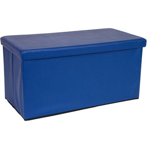 Składana ławka ze schowkiem - niebieski