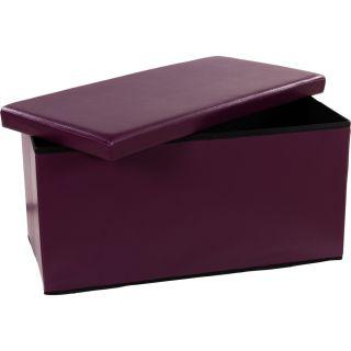 Składana ławka ze schowkiem - fioletowy / liliowy