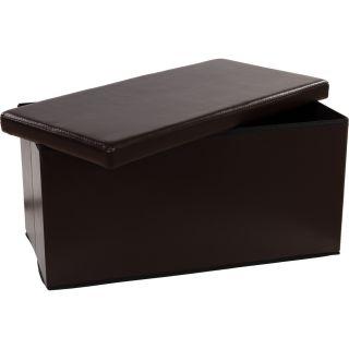 Składana ławka ze schowkiem - brązowy