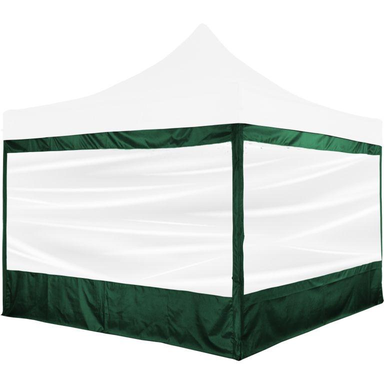 Zestaw 2 ścian bocznych z oknem na namioty 3 x 3 m - zielony