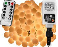 Imprezowe oświetlenie - 5 m, 50 LED, ciepła biel + pilot