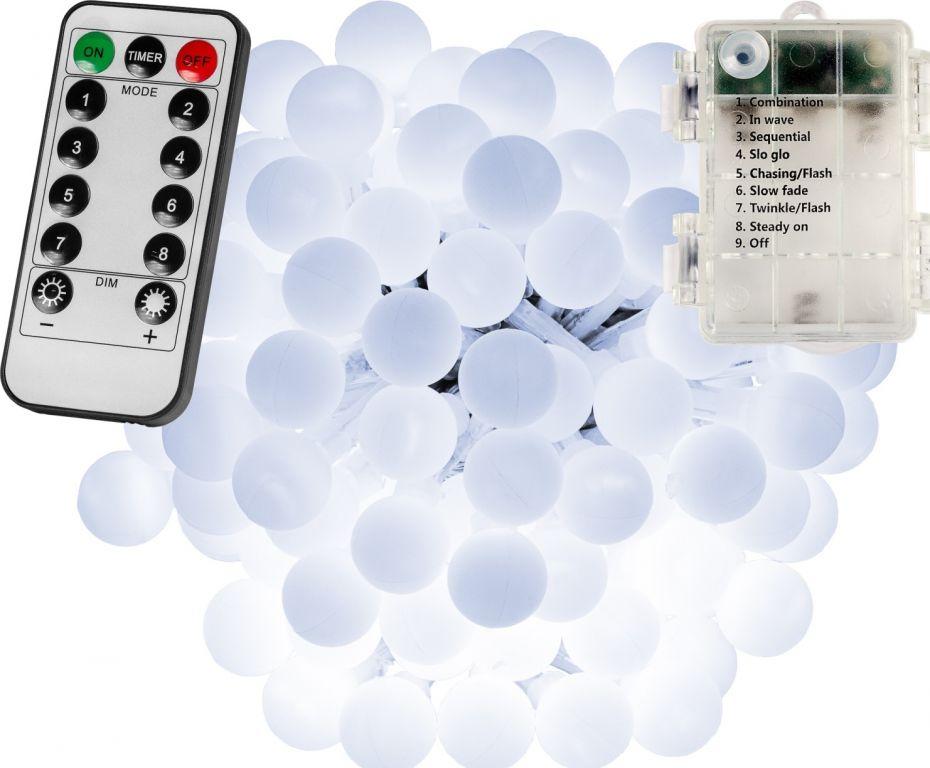 Imprezowe oświetlenie - 20m, 200LED, zimny biały, na baterie