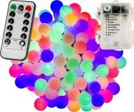 Imprezowe oświetlenie - 20 m, 200 LED, kolorowe, na baterie