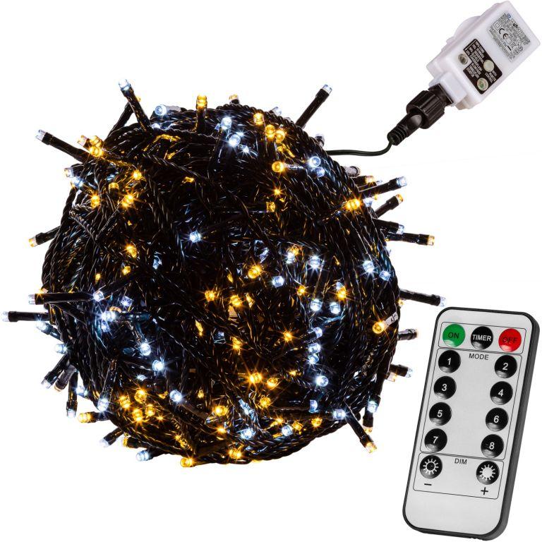 VOLTRONIC Świąteczny łańcuch 5 m, 50 LED, ciepła / zimna