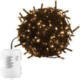 Świąteczne LED  lampki - 5 m, 50 LED, biała ciepła, na bater