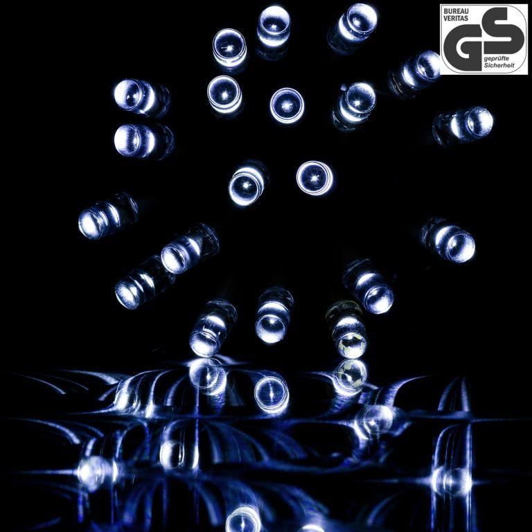 Łańcuch świetlny 50 LED - zimna biel