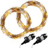 Zestaw 2 sztuk drutów świetlnych 50 LED - ciepła/zimna biel