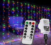 Świąteczna świetlna kurtyna - 6 x 3 m, 600 LED, kolorowy