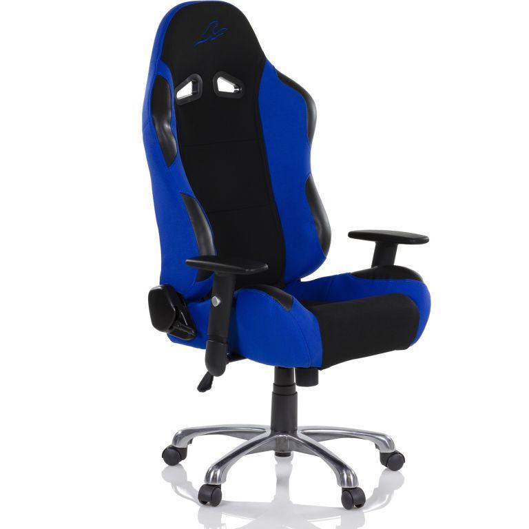 """RACEMASTER """"RS SERIES"""" Krzesło biurowe - niebieskie"""