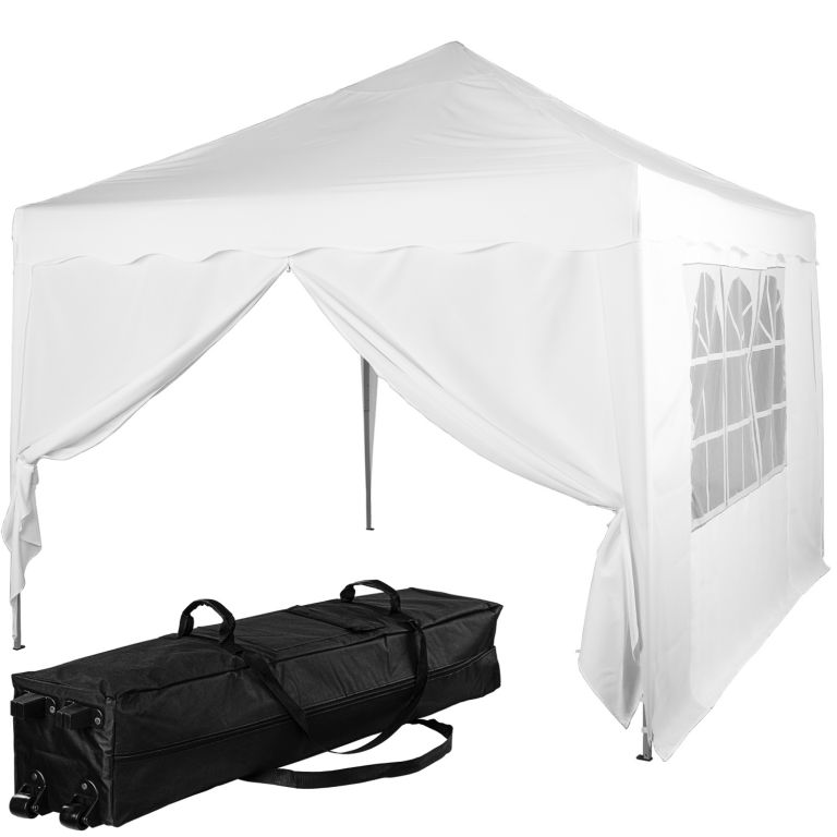 INSTENT BASIC, Namiot ogrodowy + 2 boki, 3 x 3 m, biały