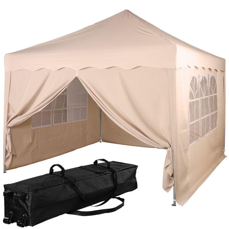 Namiot ogrodowy - 3 x 3 m, szampan + 4 strony