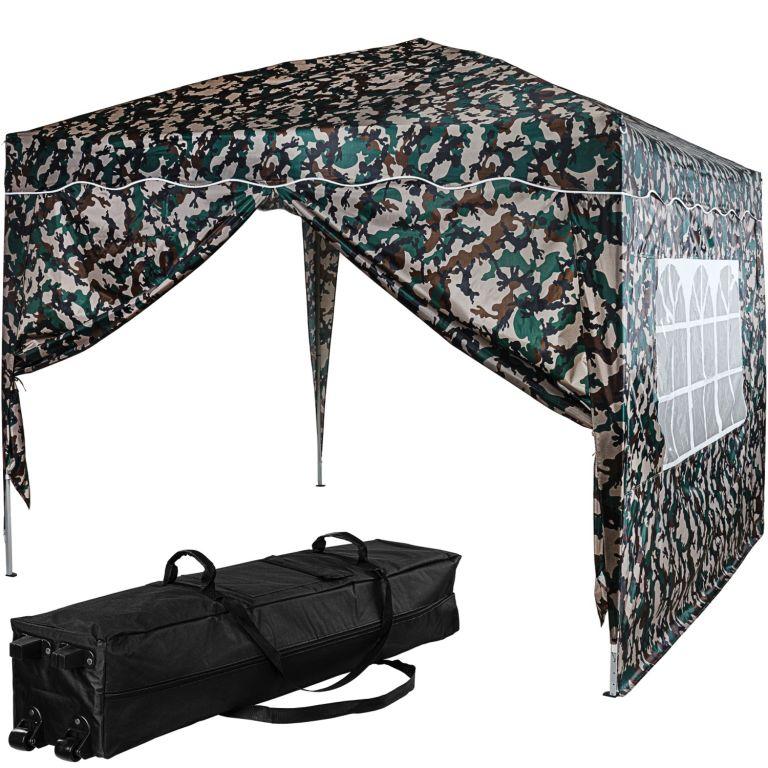 Instent Namiot ogrodowy - 3 x 3 m, kamuflaż + 2 boki