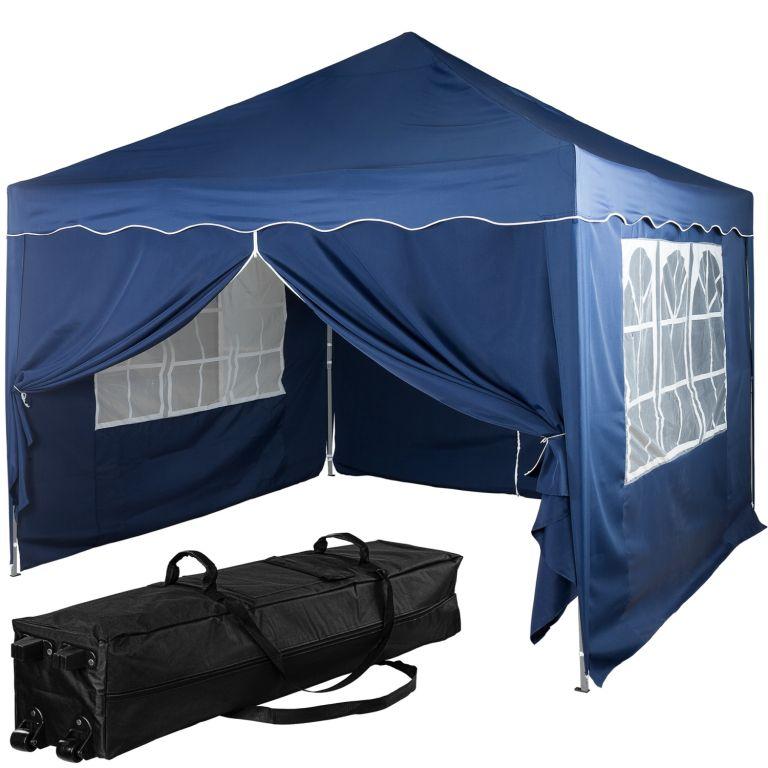 Instent Namiot ogrodowy - 3 x 3 m, niebieski + 4 boki