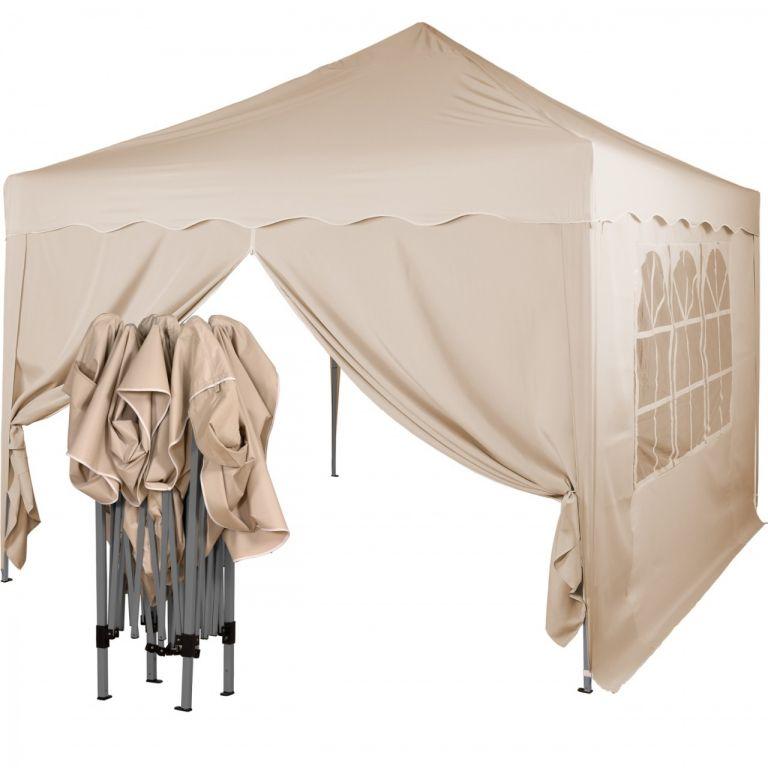 Instent Namiot ogrodowy - 3 x 3 m, szampan + 2 boki