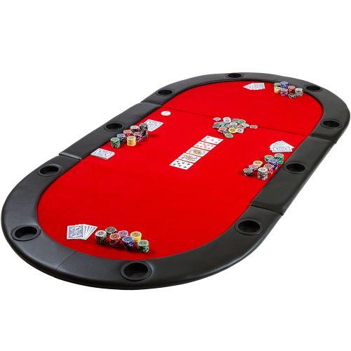 Blat do pokera składany czerwony