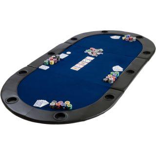 Mata składana do pokera niebieska