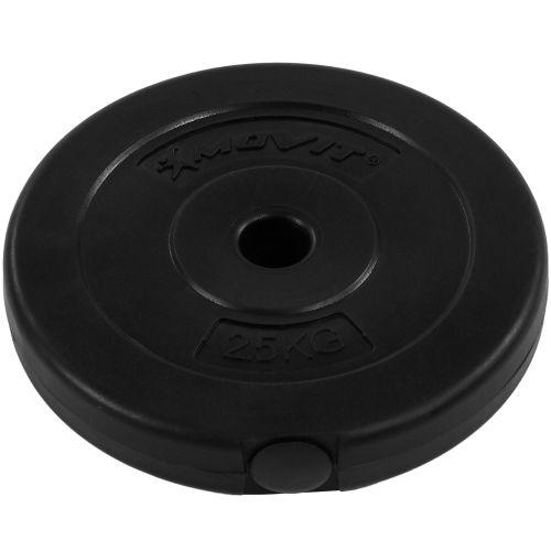 Zestaw hantli MOVIT talerze z gryfami 30 kg 2x15 kg