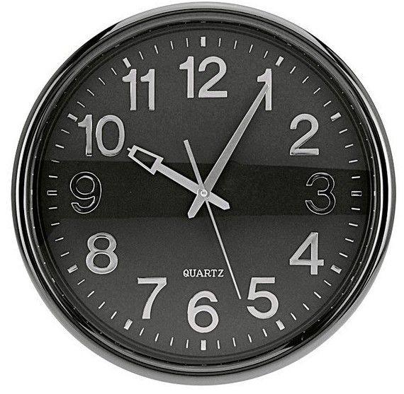 Zegar ścienny CLASSIC 37 cm - ciemnoszary