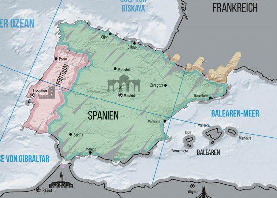 Wycierana Mapa Europy