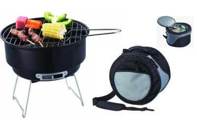 Ogrodowy Kemping Grill BBQ + torba chłodząca