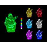 3D LED Lampa - Święty Mikołaj