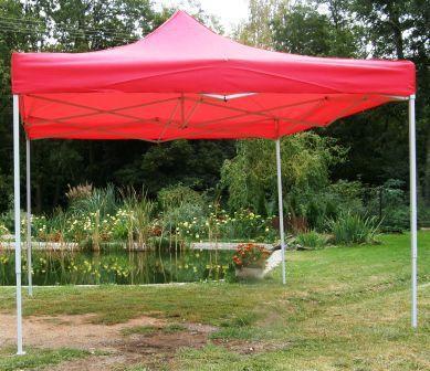 Namiot ogrodowy CLASSIC nożycowy 3 x 3 m - czerwony