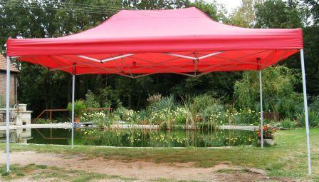 Namiot ogrodowy CLASSIC nożycowy 3 x 4,5 m - czerwony
