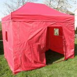 Namiot Ogrodowy party CLASSIC nożycowy + ściany boczne - 3 x 4,5 m czerwony.
