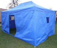 Namiot Ogrodowy party CLASSICnożycowy + ściany boczne - 3 x 4,5 m niebieski.