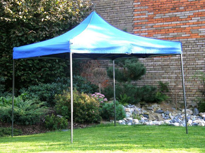 Ogrodowy namiot pawilon party DELUXE nożycowy - 3 x 3 m niebieski.