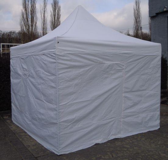 Namiot ogrodowy party DELUXE nożycowy + ściany - 3 x 3 m biały