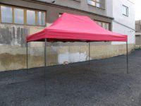 Ogrodowy namiot party DELUXE nożycowy - 3 x 4,5 m czerwony.