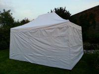 Namiot ogrodowy party DELUXE nożycowy + ściana boczna - 3 x 4,5 m biały