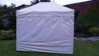 Namiot ogrodowy party DELUXE nożycowy + ściana boczna - 3 x 4,5 m kremowy