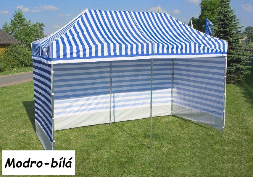 Namiot ogrodowy PROFI STEEL 3 x 3  - niebiesko-białe paski
