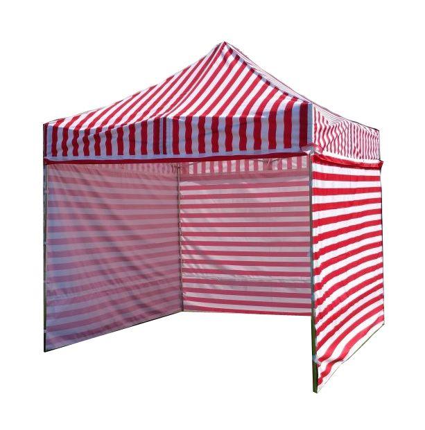 Namiot ogrodowy PROFI STEEL 3 x 3 - czerwono-białe paski