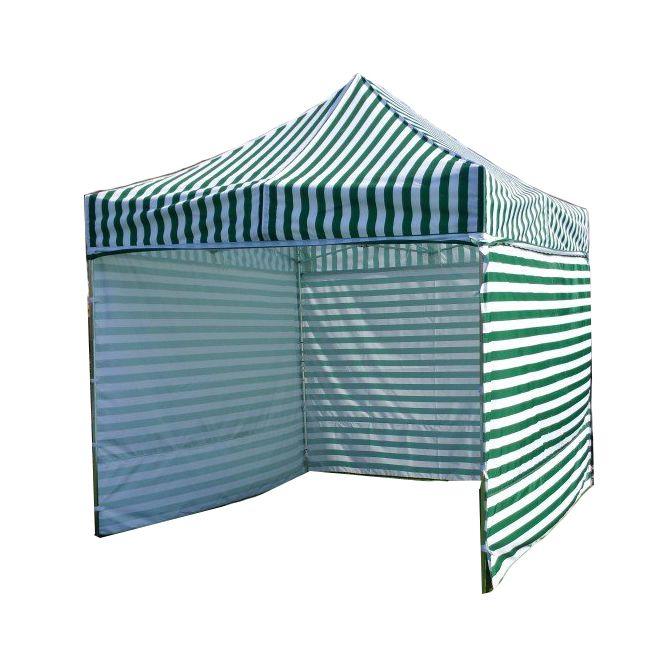 Namiot ogrodowy PRO STEEL 3 x 3 - zielono-białe paski