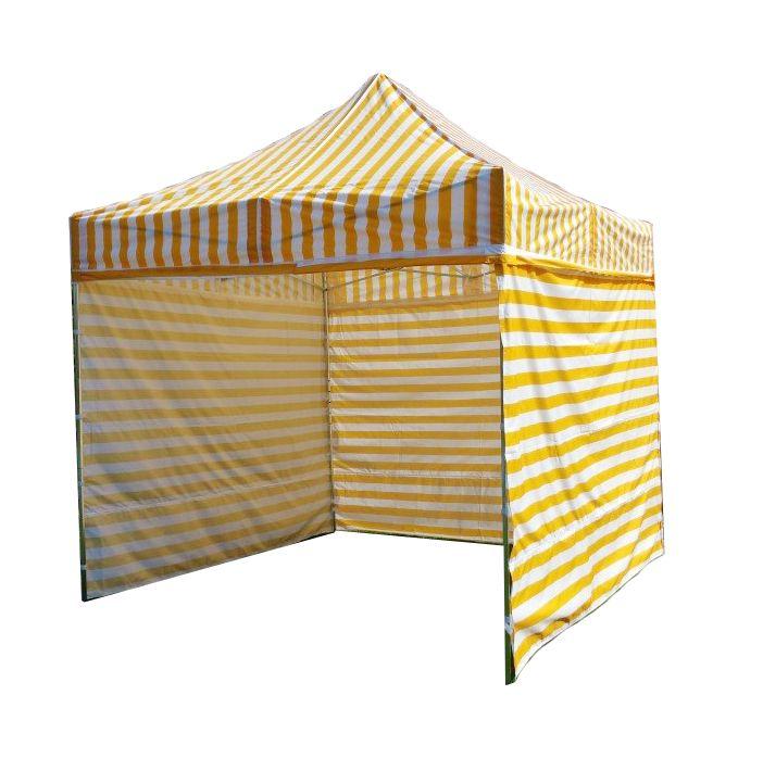 Namiot ogrodowy PRO STEEL 3 x 3 - żółto-białe paski