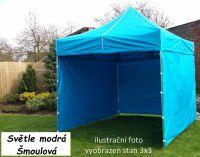 Namiot ogrodowy PROFI STEEL 3 x 4,5 - jasnoniebieski