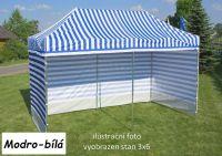 Ogrodowy namiot PROFI STEEL 3 x 4,5 - niebiesko-biały