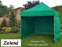 Namiot ogrodowy PROFI STEEL 3 x 4,5 - zielony