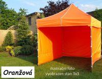 Namiot ogrodowy PROFI STEEL 3 x 4,5 - pomarańczowy